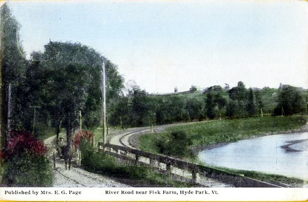 Lamoille Rail Trail early 1900's painting
